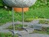 Steinvogel mit Morsetaste